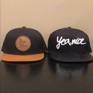 Yea, nice snap back hat